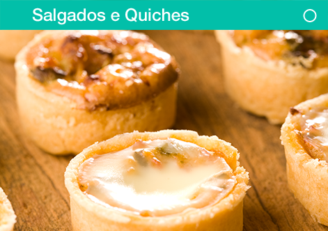 salgados e quiches